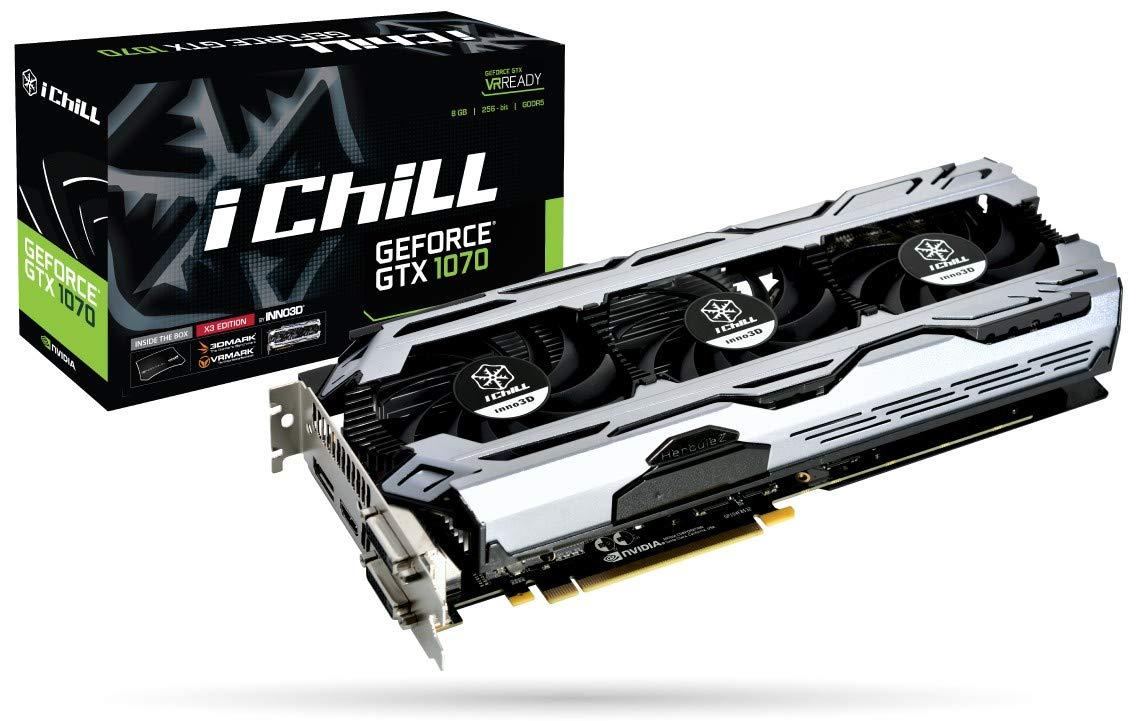 Inno3D iChill GeForce GTX 1070 X3 V2 - Tarjeta gráfica (GeForce ...