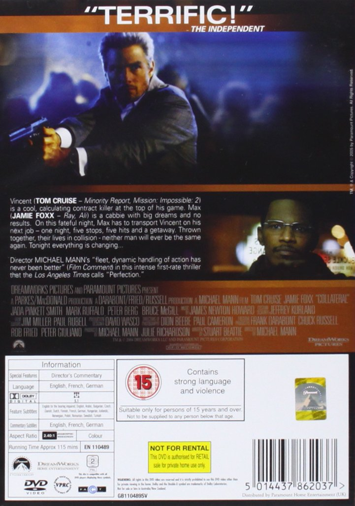 Collateral [Reino Unido] [DVD]: Amazon.es: Tom Cruise, Jamie ...