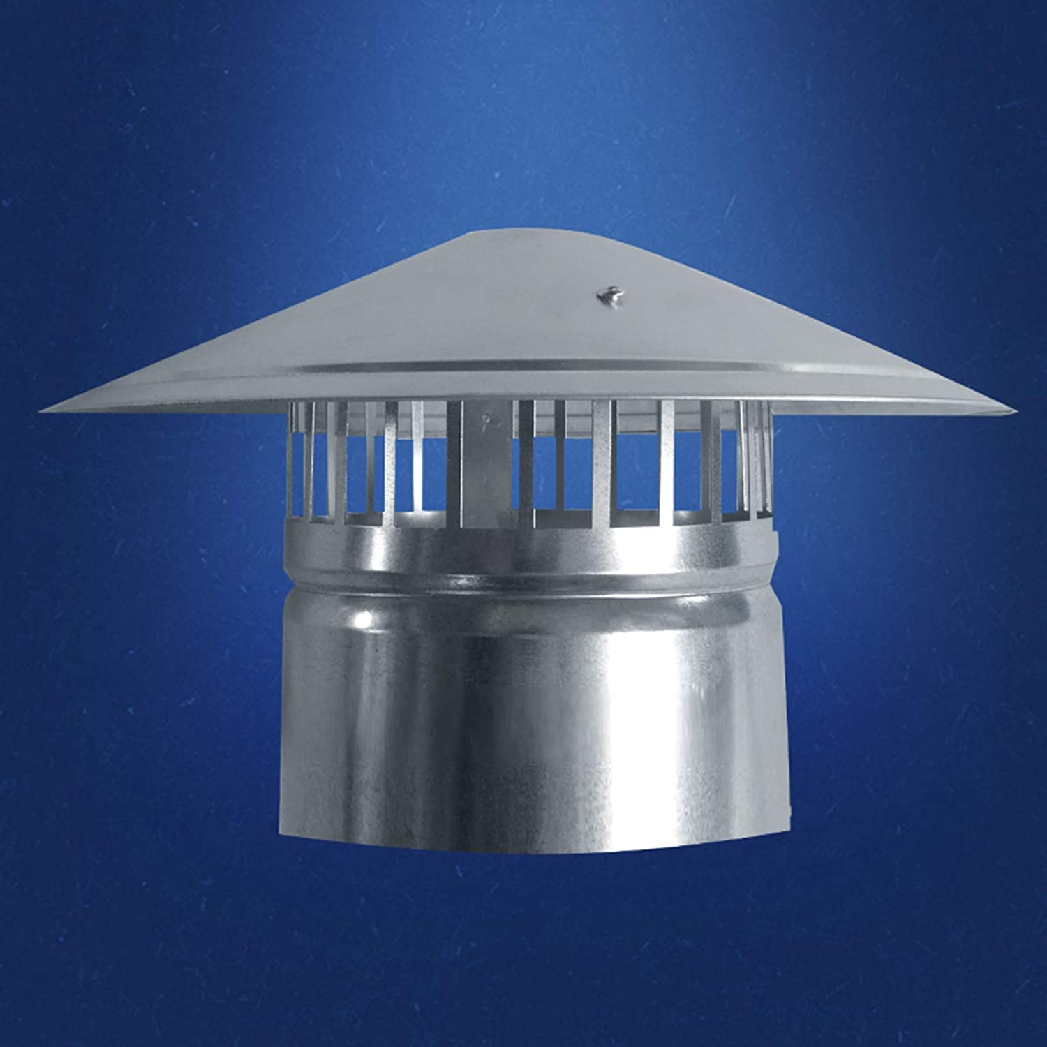 with Bird Guard Waterproof Round Air Vent Cowl Cap Rain Cover Protector Cap Ending,50mm LTLCLZ Stainless Steel Chimney Cowl Cap