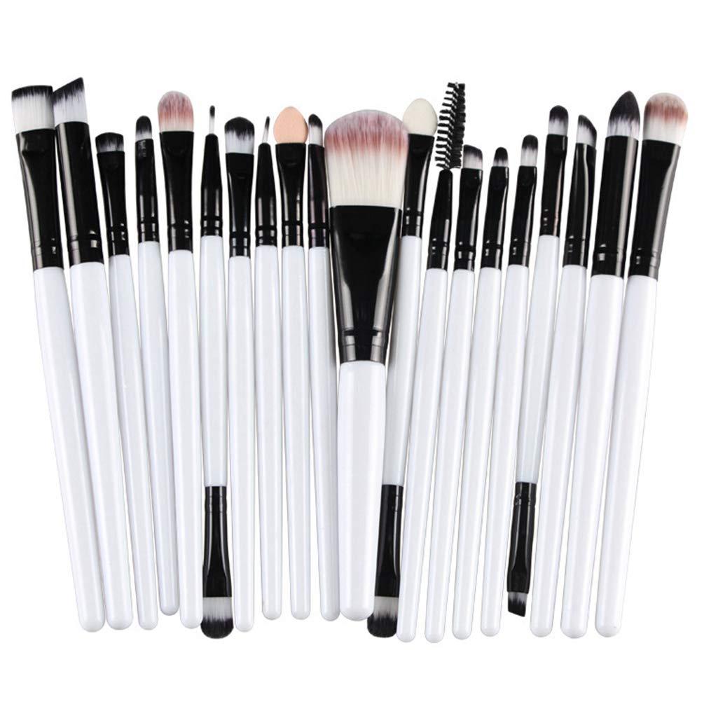 Sentaoa 20 Pezzi Set Pennelli per Trucco per Occhi Pennello per Fondotinta Cosmetici Spazzola Make Up Kit Brushs per Ombretto (Stile 1, 17 * 13.5cm)