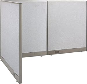 """GOF Freestanding L Shaped Office Partition, Large Fabric Room Divider Panel, 48""""D x 72""""W x 48""""H"""