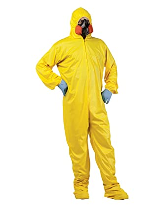 Rubber Johnnies Bad Chemist Yellow Hazmat Costume, Adult One Size, Breaking, Walter
