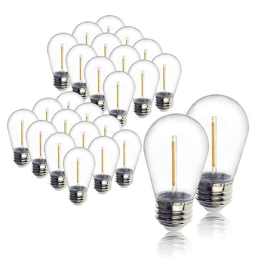 Amazon.com: Jslinter S14 Edison - Lote de 24 bombillas LED ...