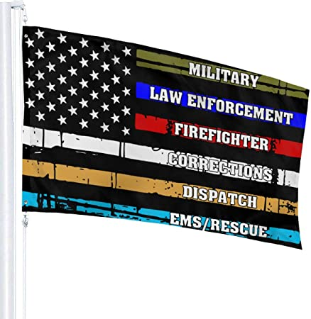 Fire Military FREE SHIP 3X5FT USA THIN BLUE RED GREEN LINE FLAG  Police