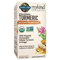 Garden of Life mykind Organics Extra Strength Turmeric Inflammatory Response 120...