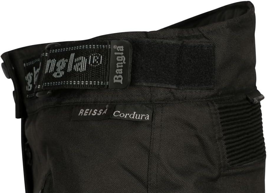 Ledershop-online Bangla 1263 Damen Motorradhose Tourenhose Textil Cordura 600 schwarz-neongelb M