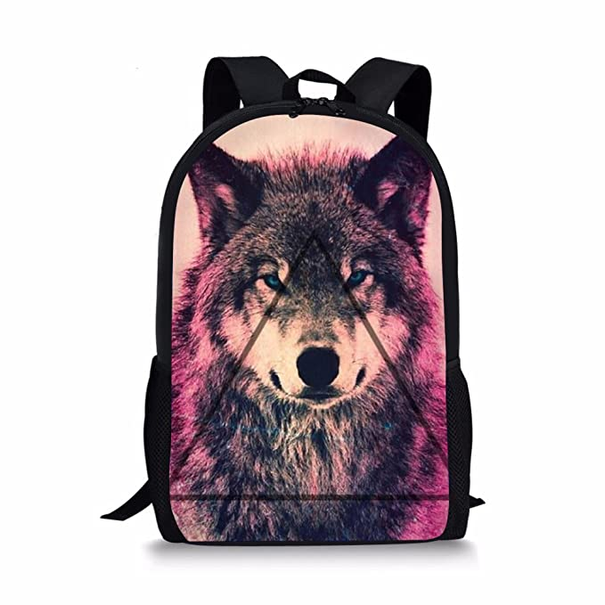 Amazon.com: WHEREISART School Bookbag Teenager Backpack Rucksack Laptop Mochila Wolf Design: Computers & Accessories