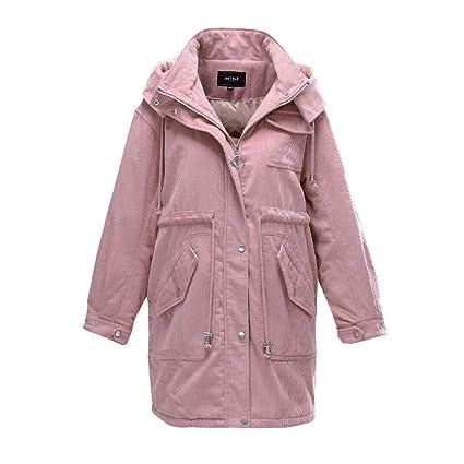 NZ Chaqueta Larga De Color Rosa para Mujer Elegante, Delgada ...