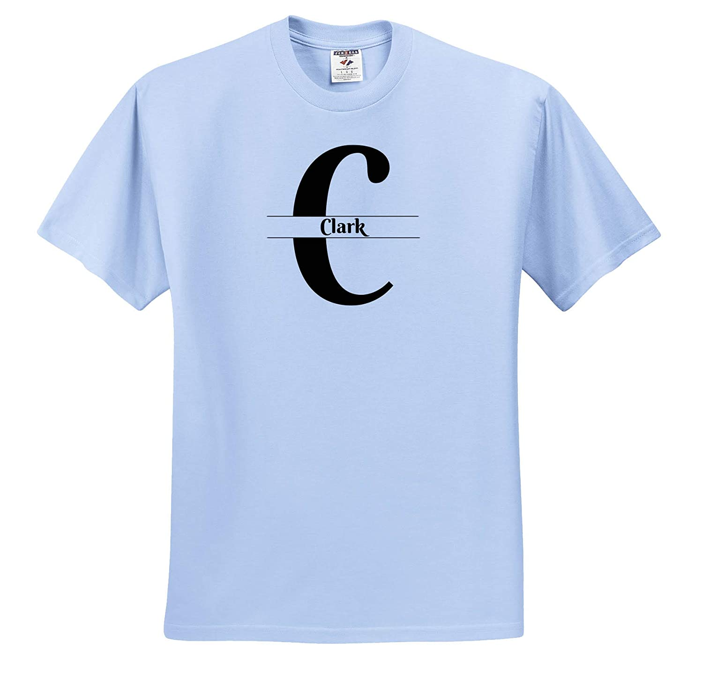 Bold Script Monogram C Clark T-Shirts 3dRose BrooklynMeme Monograms