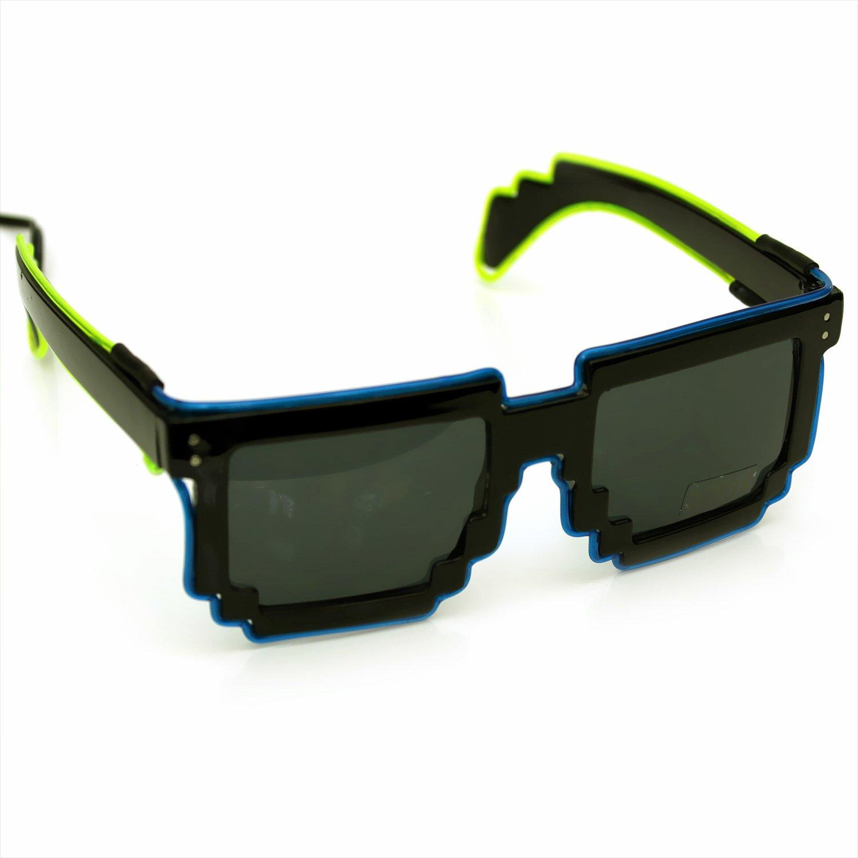 Lumineux pixels Lunettes de lunettes de lunettes, lunettes de soundsensitive EL, pixels, fête, LED, © ucult.