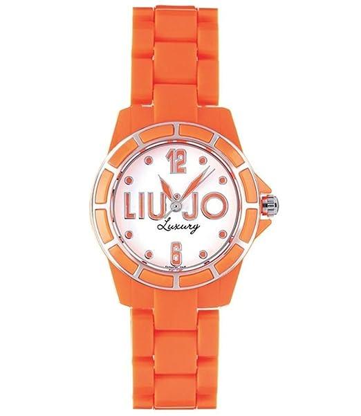 Liu-Jo Orologio Donna in Acciaio e Plastica Arancione c02649bed98