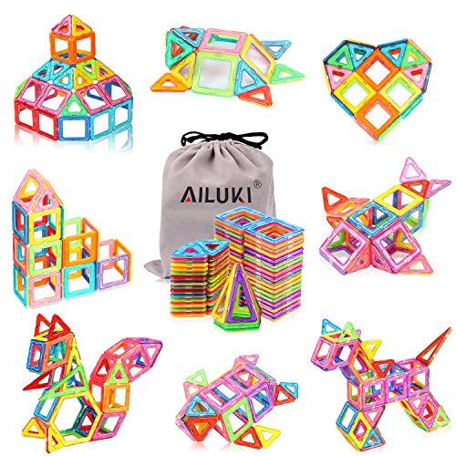 (AILUKI 110 PCS Magnetic Blocks Building Set for Kids, Magnetic Tiles Preschool Educational Construction Kit Toys for Girls &)