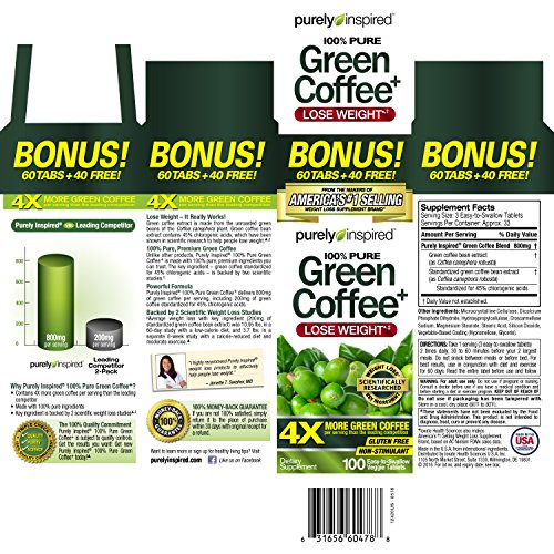 Purely-Inspired-Green-Coffee-Bean-Weight-Loss-Supplement-Non-Stimulant-100-Pure-Green-Coffee-for-Weight-Loss-100-Count-Bonus-Size
