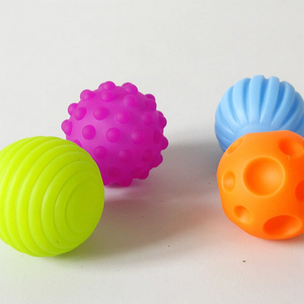 WeiMay Baby Softb/älle Lernspielzeug Weiche Kugel Baby-Hand fangen Massage Ball Lernspielzeug 7cm 4Pcs in 4 Farbe