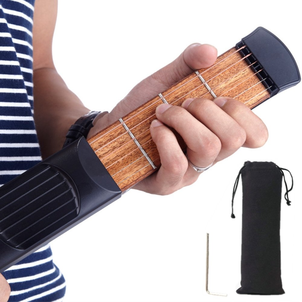 Mini Pocket Guitar 6Frets String Chord Trainer Practice Tool Gadget for Beginner BEESS