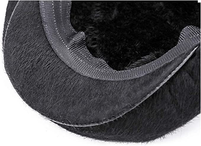 SXBag Autumn and Winter Warm Top Layer Cowhide Adjustable Cap Outdoor Beret Middle and Old Single Baseball Cap`