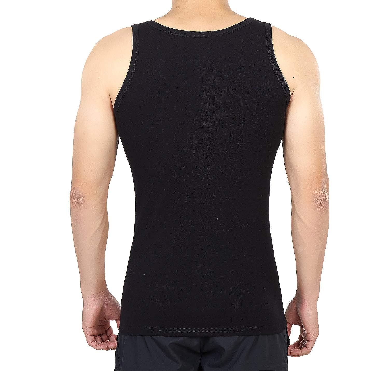 YOUCHAN Camiseta de Tirantes para Hombre Pack de 5 de Algod/ón 100/% m/ás Colores