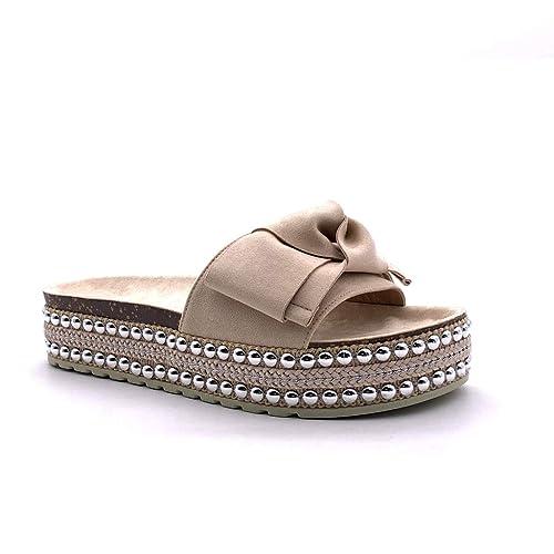 doux et léger 60% pas cher à vendre Angkorly - Chaussure Mode Mule Tong Claquette Plateforme ...