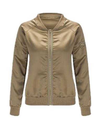 Tayaho Jacket Coat Outwear Mujer Abrigos Manga Larga Cuello Redondo Chaquetas Color SÓLido Coat Invi...