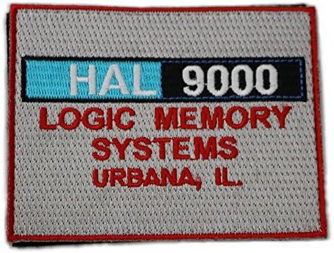 [ ワッペン屋Dongri ] HAL9000 モチーフ 刺繍 ベルクロワッペン A0042