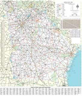 State Of Georgia County Map.Amazon Com Georgia County Map Laminated 36 W X 36 H Office