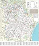 36x48 Georgia State Official Executive Laminated Wall Map