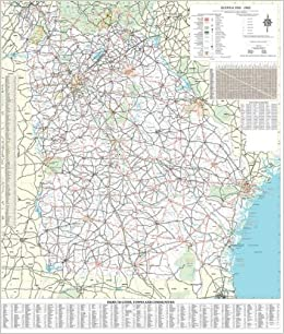 36x48 Georgia State Official Executive Laminated Wall Map: GA Dept ...