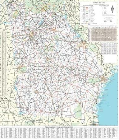 Amazon.com : 36x48 Georgia State Official Executive Laminated Wall ...