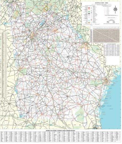 Georgia Map State.Amazon Com 36x48 Georgia State Official Executive Laminated Wall