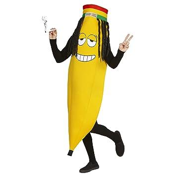 WIDMANN Disfraz de Plátano Rastafari para adulto: Amazon.es ...