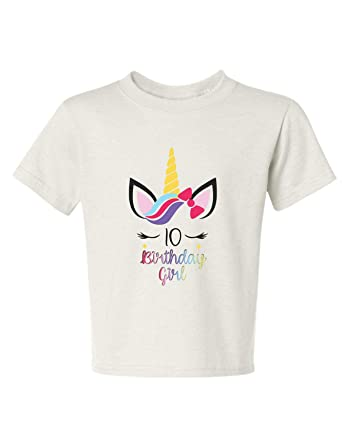 84fc9c3a0 Allntrends Kids Youth T Shirt Unicorn Birthday Girl Age 2-12 Cute Unicorn  Outfit (