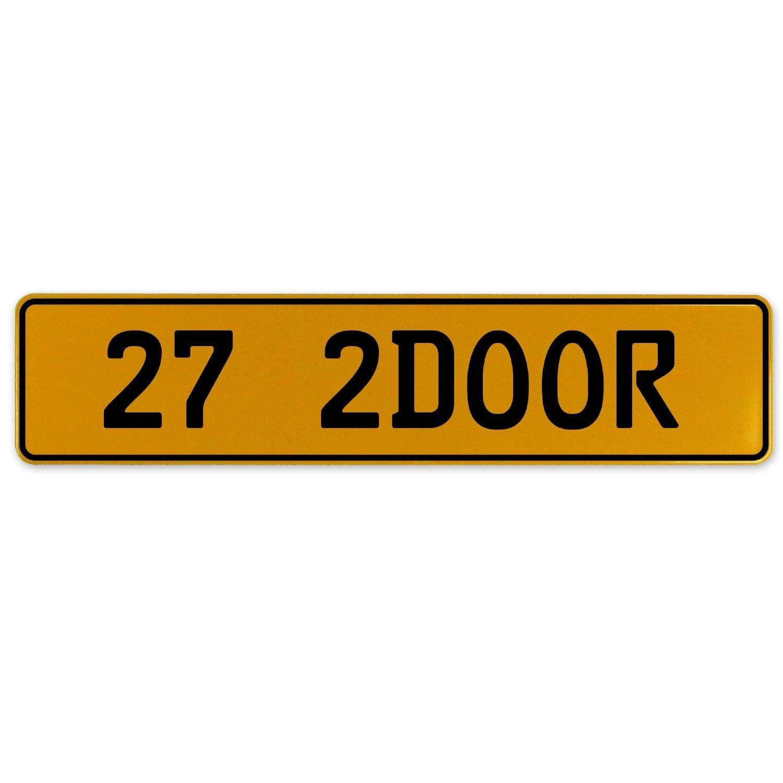 Vintage Parts 562941 27 2DOOR Yellow Stamped Aluminum European Plate