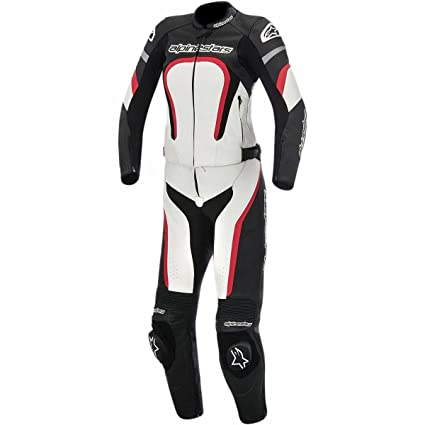 Amazon.com  Alpinestars Motegi Women s 2-Piece Street Motorcycle Race Suits  - Black White Red   42  Automotive ba83783aeb
