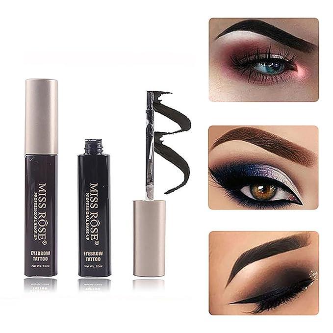MISS ROSE Tintes para Cejas Permanentes e Impermeables Tatto Sellos para Cejas Cosméticos de Maquillaje Profesional (#05): Amazon.es: Belleza
