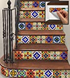 SnazzyDecal 15 Steps Removable Vinyl Stickers Strips for Stair Risers TR001-S-6