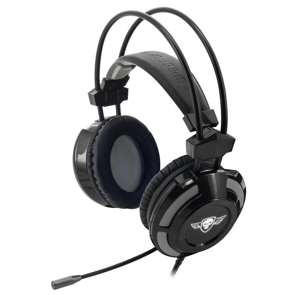 leds bleues SPIRIT OF GAMER Casque Gaming PC ELITE-H70 USB 7.1 Son sur round virtuel 7.1 HP 50 mm aimants n/éodyme- Logiciel inclus Ultra light conception White