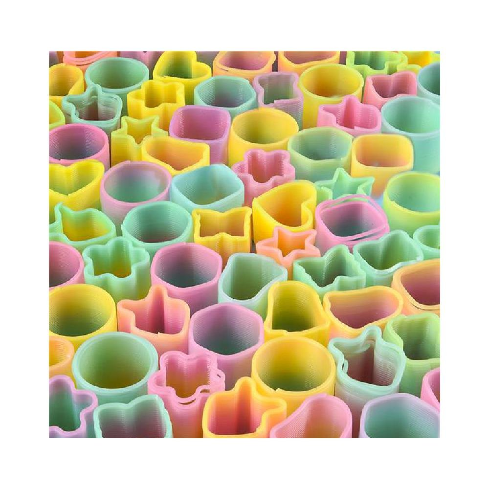 50Pc 1.5'' Rainbow Coil Spring Assortment (With Sticky Notes) by Bargain World (Image #1)