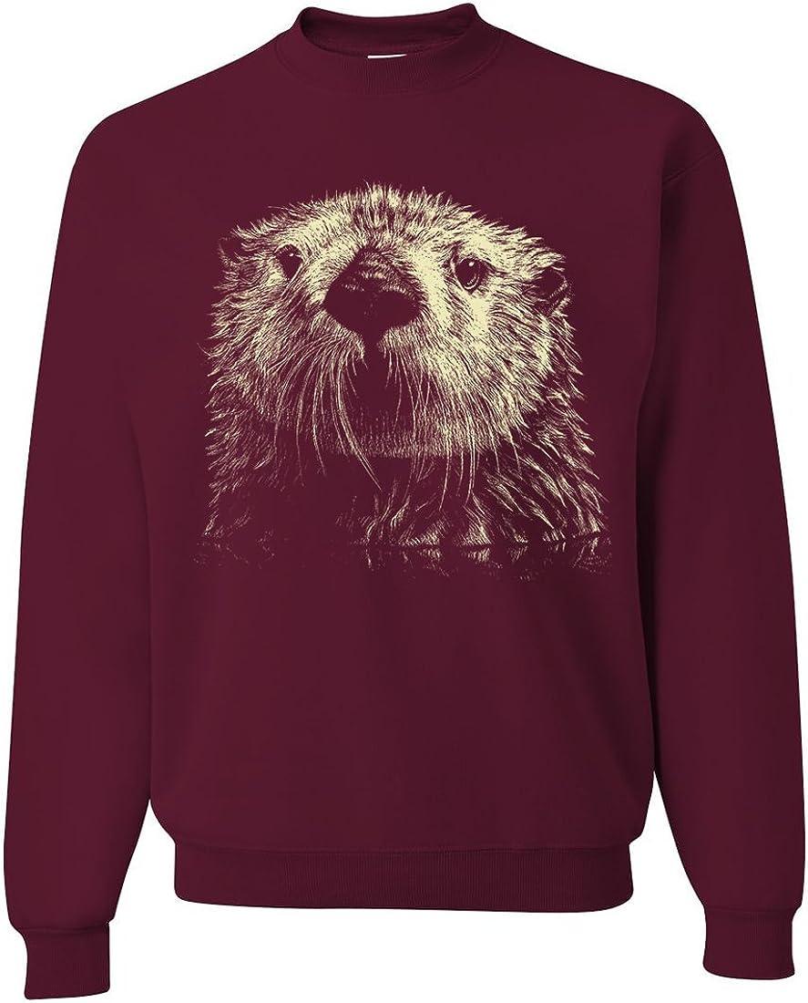 B00I8665B6 Dolphin Shirt Co Giant Otter Face Asst Colors Crewneck Sweatshirt 615ZmpL1eSL