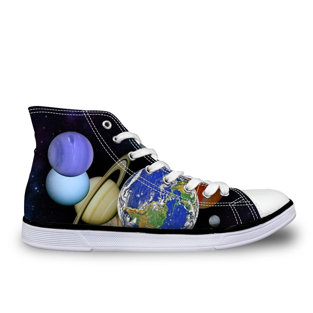 CHAQLIN Casual High Top Unisex Canvas Shoes Sneaker With Galaxy Printed for Women Mens US 5 B(M)=EUR 35|Cc3194ak