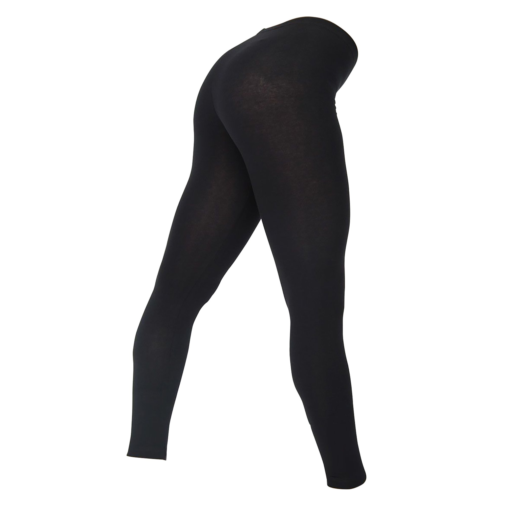 American Apparel Womens/Ladies Cotton Spandex Jersey Leggings (M) (Black)