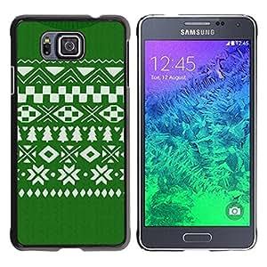 Paccase / SLIM PC / Aliminium Casa Carcasa Funda Case Cover para - Pattern Christmas Green White - Samsung GALAXY ALPHA G850