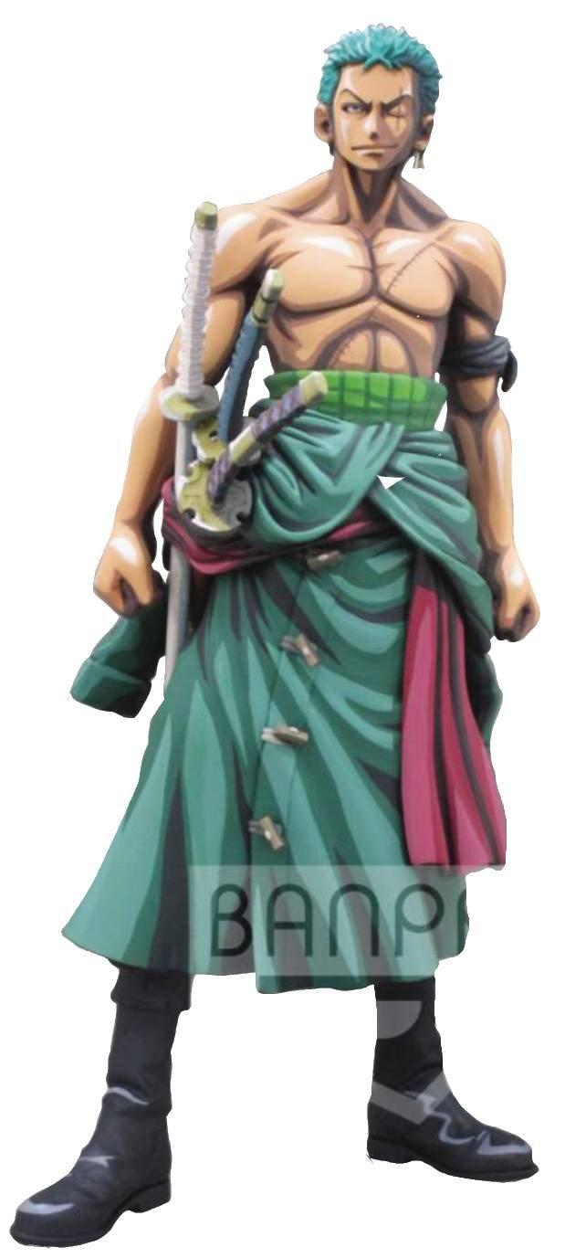 3296580255481 Banpresto Figurine One Piece Roronoa Zoro Manga Dimension Master Stars Piece 26cm