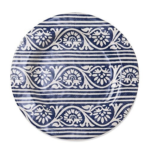 tag - Artisan Melamine Salad Plate, Durable, BPA-Free and Great for Outdoor or Casual Meals, Blue (Set of 4) - Navy Salad Plate