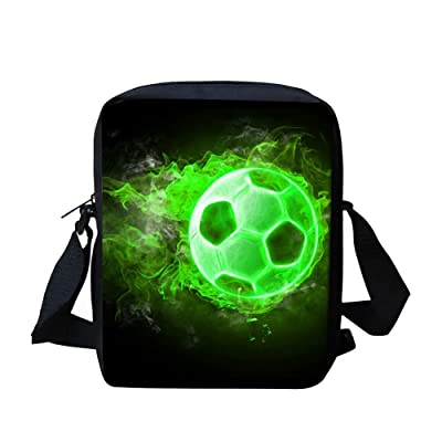 good Football Kids Messenger Bags for School Cross Body Shoulder Bag Cute  for Travel 9732ae59941f4