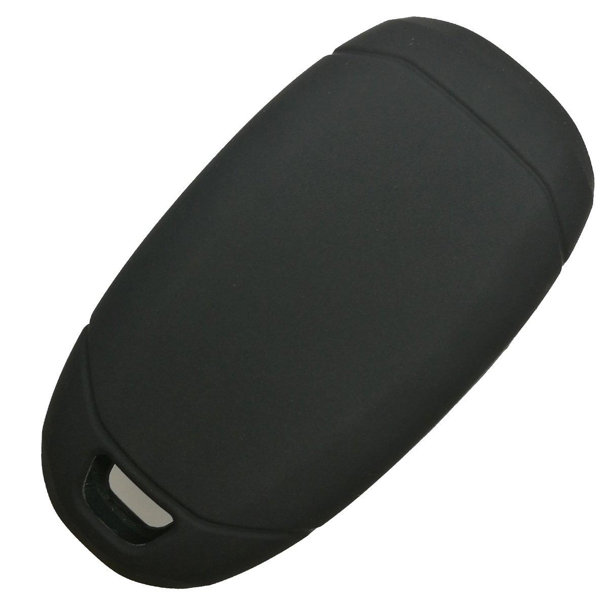2Pcs Coolbestda Rubber 4 Buttons Key Fob Remote Cover Case Protector Keyless Jacket for 2017 Hyundai Azera Grandeur IG Black