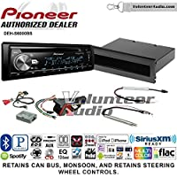 Volunteer Audio Pioneer DEH-S6000BS Double Din Radio Install Kit with Bluetooth, Sirius XM, CD Player Fits 2002 Volkswagen Golf