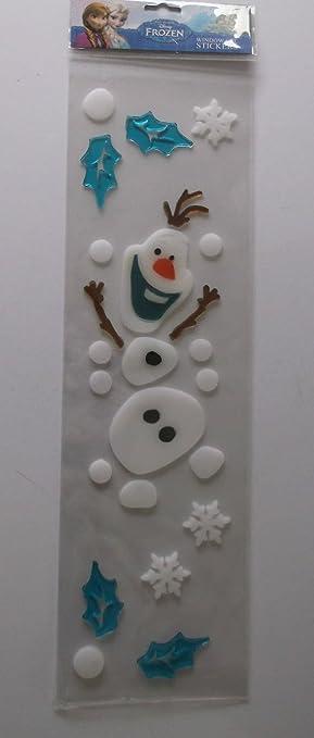 Disney frozen christmas window decoration gel stickers frozen elsa olaf new