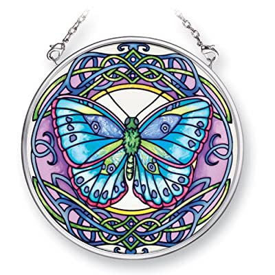 Amia 41506 Fantastic Dream Butterfly 3-1/2-Inch Circle Sun Catcher, Small: Home & Kitchen