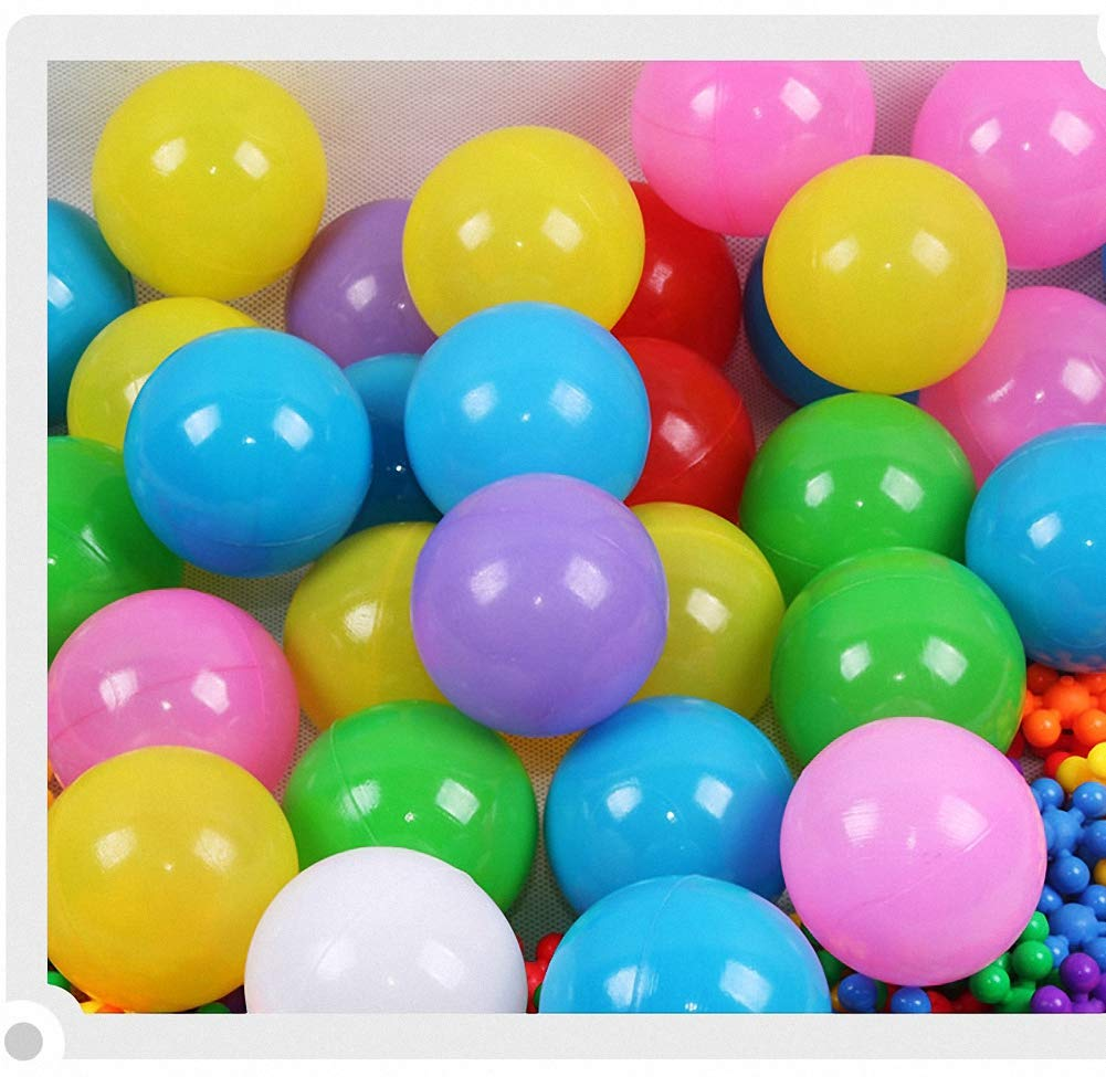 Binwwede Kids Ocean Ball 5 Colors Toddler Baby Ball Pit Pack of 100 Plastic Play Balls (20pcs) by Binwwede (Image #3)
