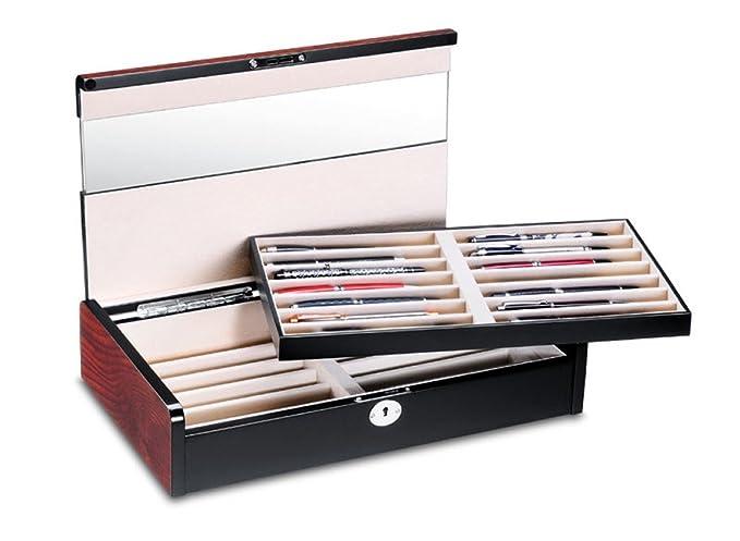 Caja para lápices de madera con vitrina, caja estuche para ...